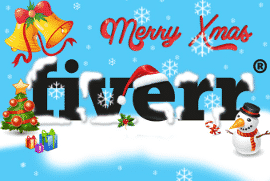 Fiverr Holiday Logo Makeover