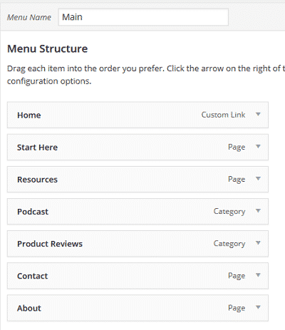 wordpress-categories-and-menus
