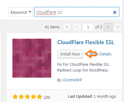 Cloudflare Flexible SSL Plugin Install