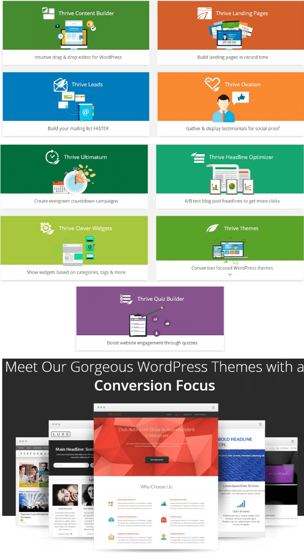 WordPress Themes Thrive Themes  Lightweight